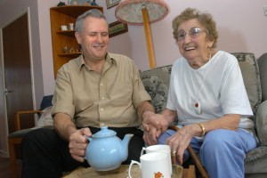Stay Well At Home Service, Evesham, Britain Maisie Palmer was referred to the Stay Well At Home Service by a Health Visitor when she broke her coccyx in a fall. Jonathan Banks 01/01/2005