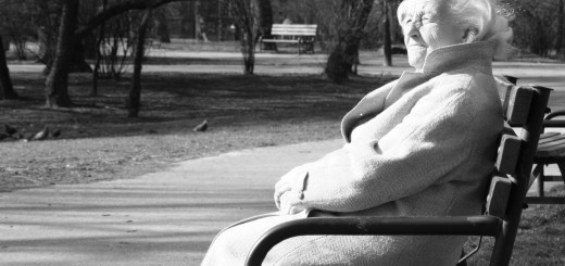 older person on bench